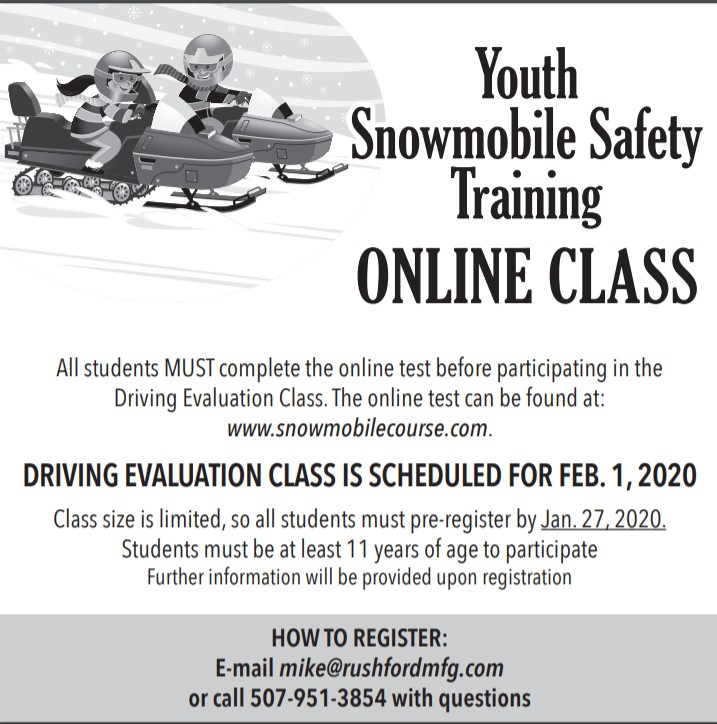 Youth Snowmobile Safety Online Training and Driving Evaluation Class