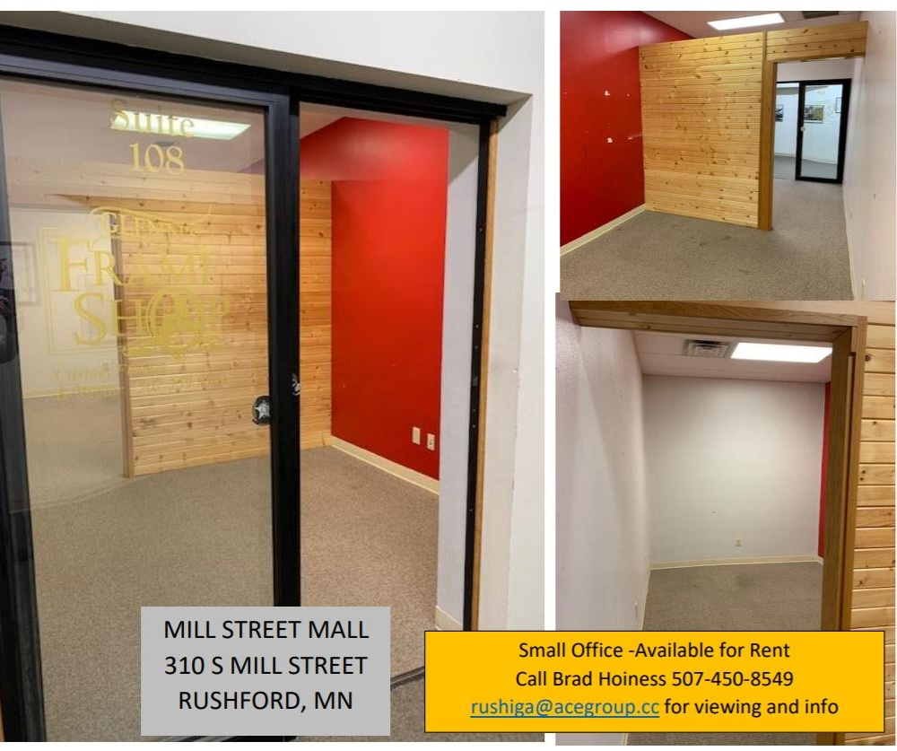 For Rent: Office Space at Mill Street Mall