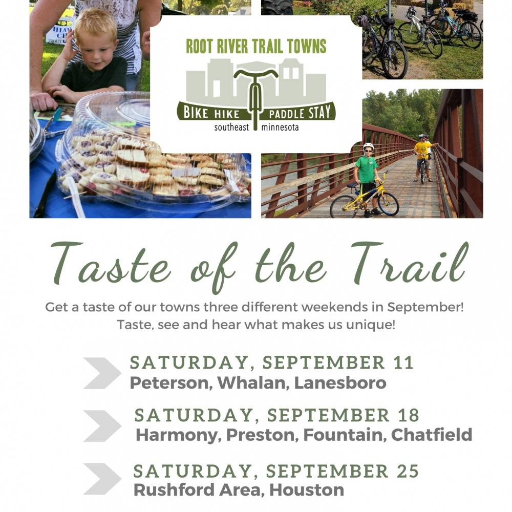 Taste of the Trail – Rushford Area and Houston