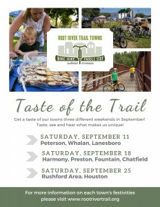 Taste of the Trail - Rushford Area and Houston